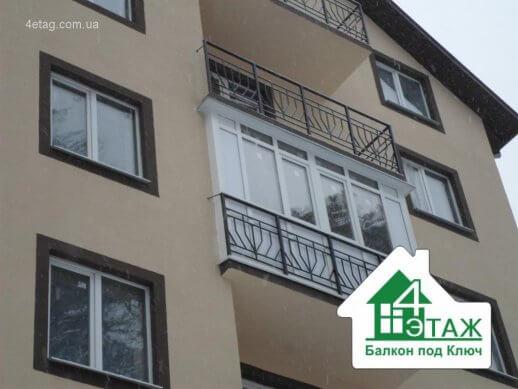 """Пластиковые балконы от компании """"4 Этаж Балкон под ключ"""""""