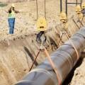 укладка трубопровода в траншею